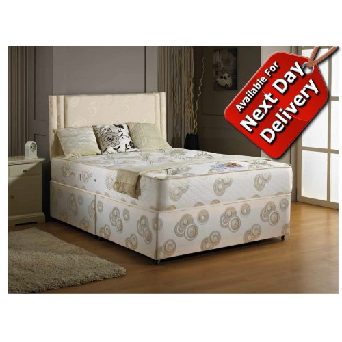 Luxury ascot orthopaedic king size divan bed 5 39 for King size divan bed no mattress