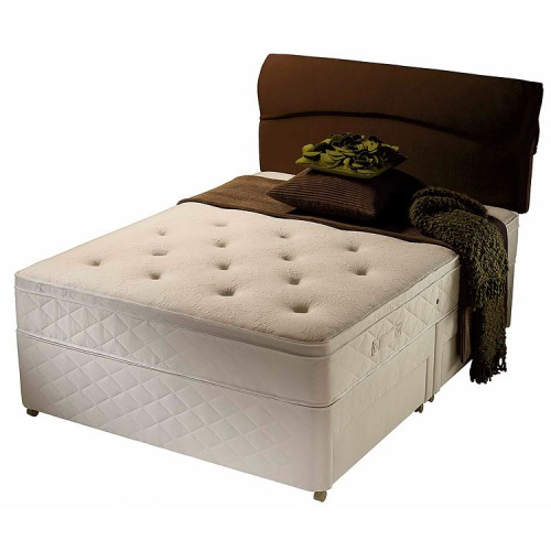 Silentnight galaxy divan bed double 4 39 6 for Double divan bed no mattress