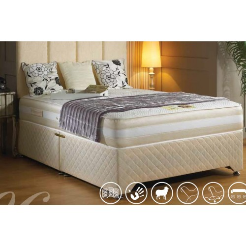 Luxury sandringham memory pocket divan bed 6 39 super for Super king divan bed and mattress