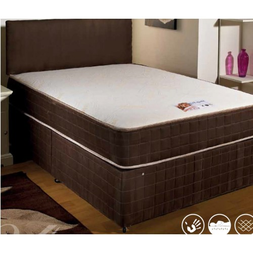Luxury sleep eazy memory divan bed double 4 39 6 double for Double divan bed no mattress