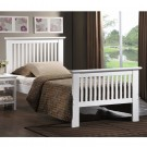 "Value Ashling White Bedstead - Double (4'6"")"