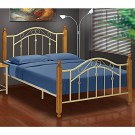 "Virginia Cream Metal Bed Frame - Double (4'6"")"