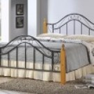 "Virginia Black Metal Bed Frame - Double (4'6"")"