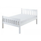 Carlow Wood Bed-White Single (3')