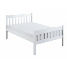"Carlow Wooden Bed White - Double (4'6"")"