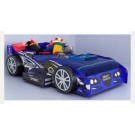 Kids Blue Night Racer Bed