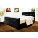 Dakar PU Leather Bed Black / Brown  - (5')