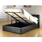 Fusion PU Leather Storage Bed Black / Brown / White  - (4'6)