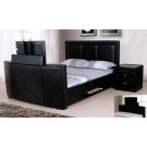 Galactic PU Leather TV Bed Black / Brown  - (5')