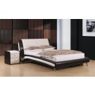 "Holborn PU Leather Bed Black / White  - (4'6"")"
