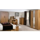 Mya Oak 4'6 Bed