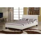 Harmony Venice Leather Bed - Black / Brown / White (4'6)